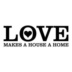 Uitverkoop Love makes our house a home hartje