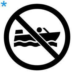 Verboden voor boten