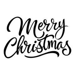 Merry christmas geschreven