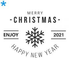 Merry christmas kies icoon