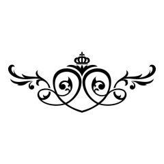 Ornament hart met kroon