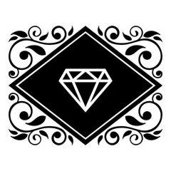 Ornament met diamant