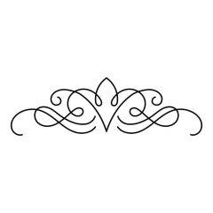 Ornament sierlijke lijnen