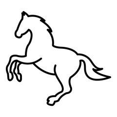 Paard steigert lijnen
