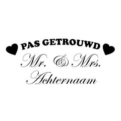 Pas getrouwd Mr & Mrs sierletters