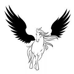 Pegasus gevleugeld paard