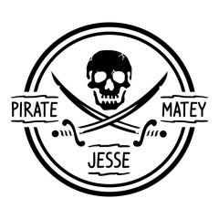 Piraten doodshoofd met naam