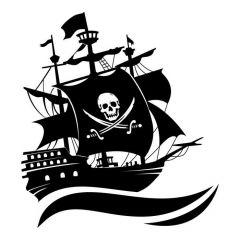 Piratenschip op zee