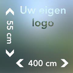 Raamfolie met logo afmetingen