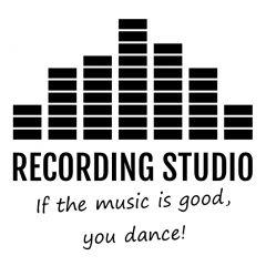 Recording studio deursticker muursticker raamsticker