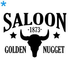 Keuze Saloon wild west 1873 sticker deursticker muursticker