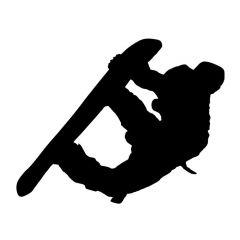 Snowboarder stunt