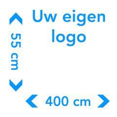 Muursticker met logo afmetingen