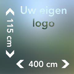 Raamfolie groot met logo afmetingen