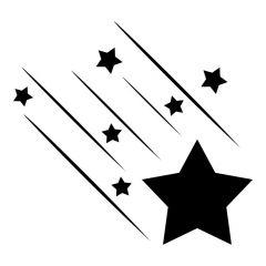 Vallende ster met lijnen