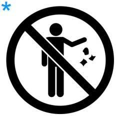 Verboden afval weg te gooien