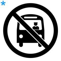 Verboden voor bussen