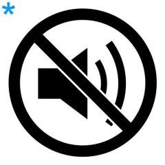 Verboden voor muziek geluid