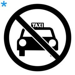 Verboden voor taxi