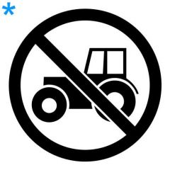 Verboden voor tractoren sticker raamsticker