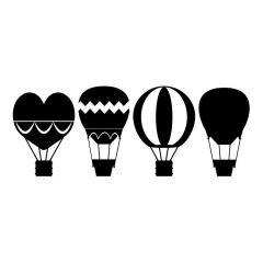 Verschillende luchtballonnen sticker muursticker raamsticker