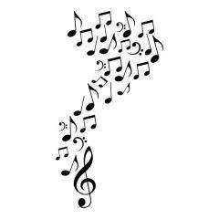 Verschillende muzieknoten
