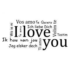 Verschillende talen ik hou van jou
