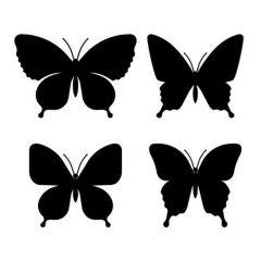 Vlinder silhouette set