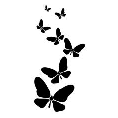 Vlinders vliegen