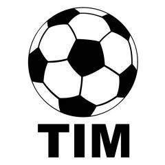 Voetbal met naam voetbalsticker