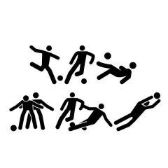 Voetbal pictogram set raamsticker muursticker