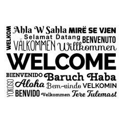 Welkom verschillende talen in blok