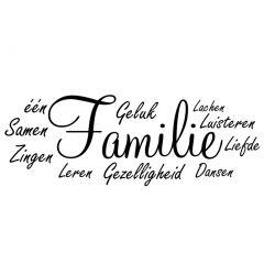 Woordwolk samen een familie
