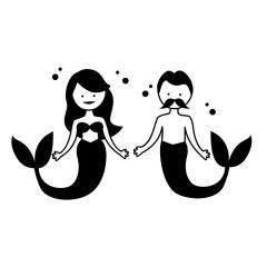 Zeemeermin en zeemeerman
