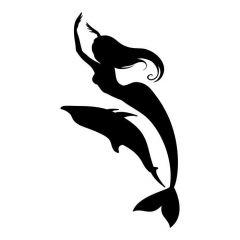 Zeemeermin met dolfijn